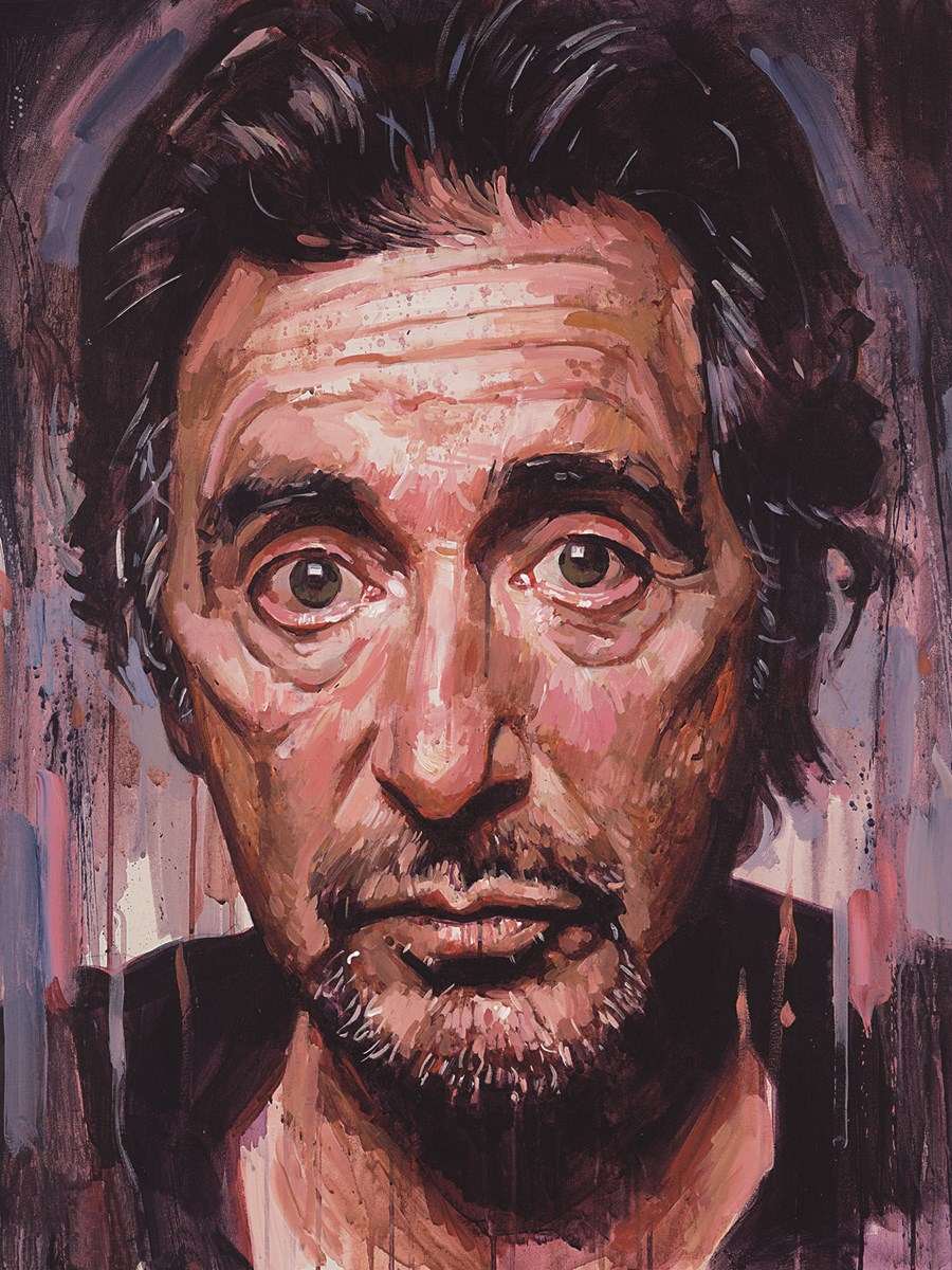 Al Pacino II by Zinsky -  sized 12x15 inches. Available from Whitewall Galleries
